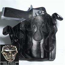 Pure_Kustom_Holsters_Desert_Eagle_L6_Black_with_Tooled_Flames1