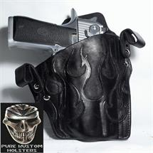 Pure_Kustom_Holsters_Desert_Eagle_L6_Black_with_Tooled_Flames2